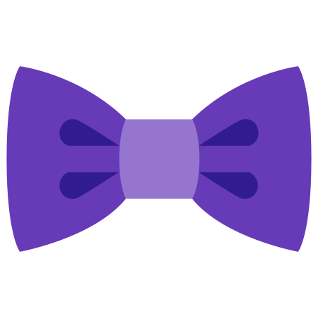 Filled Bow Tie icon in Color