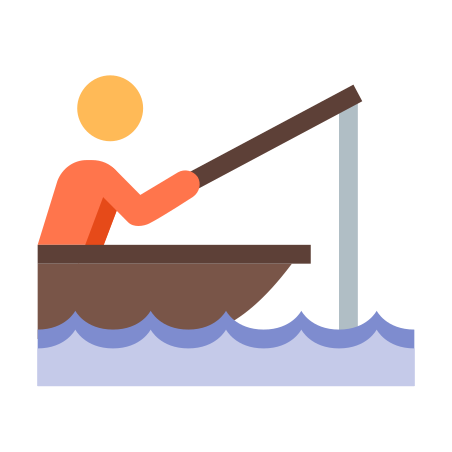 Fisherman In A Boat icon