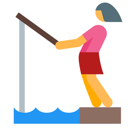 Fishing Woman icon