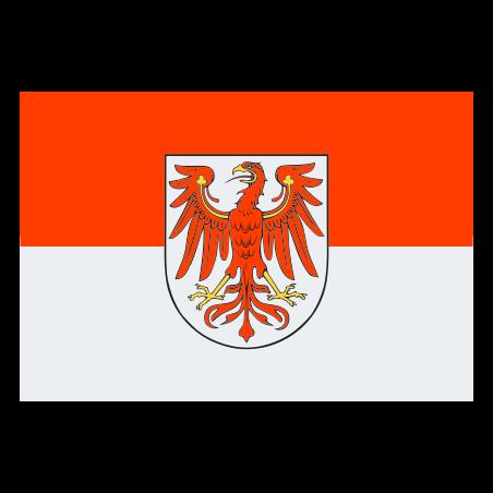 Flag of Brandenburg icon in Color