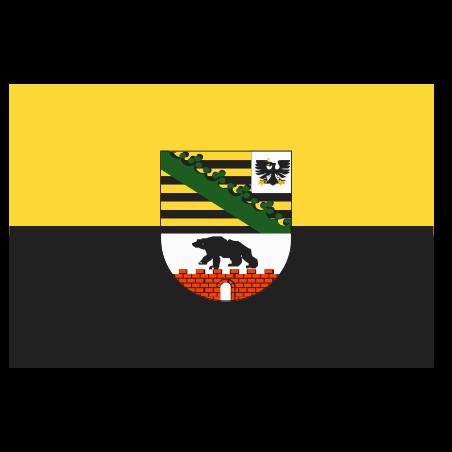 작센 안할 트의 국기 icon