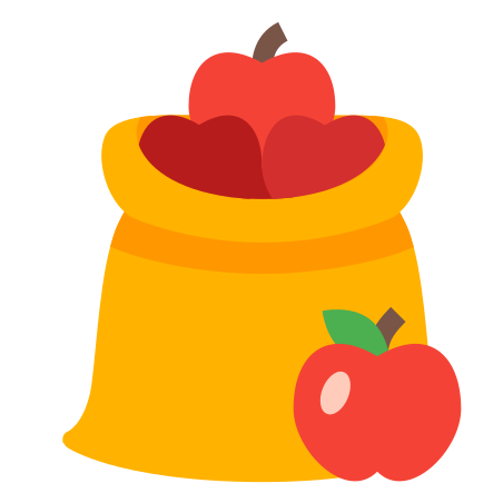 Fruit Bag icon in Color