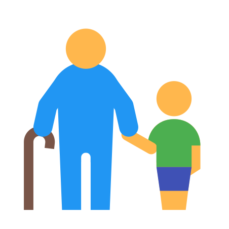 Grandfather With A Boy icon