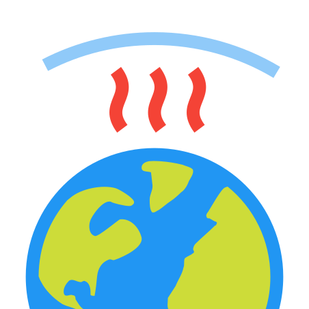 Greenhouse Effect icon in Color