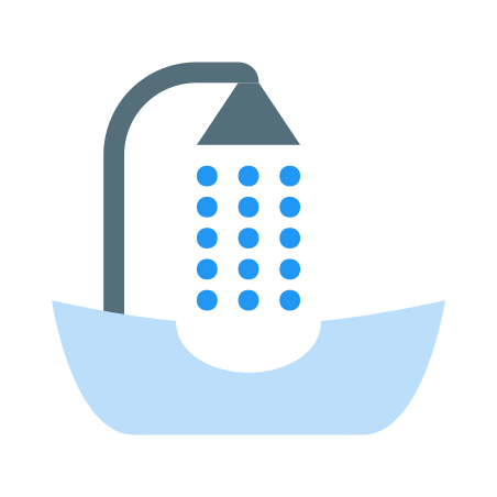 Hair Washing Sink icon in Color