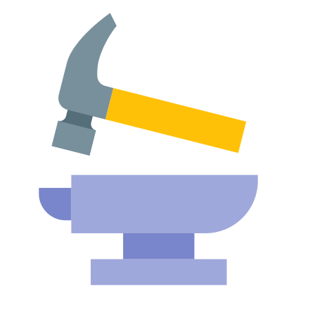 Hammer and Anvil icon in Color