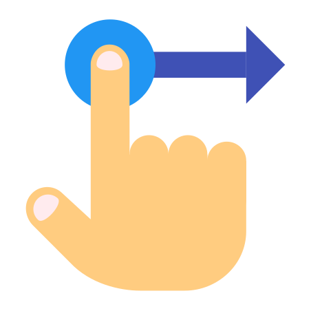 Hand Drag icon in Color