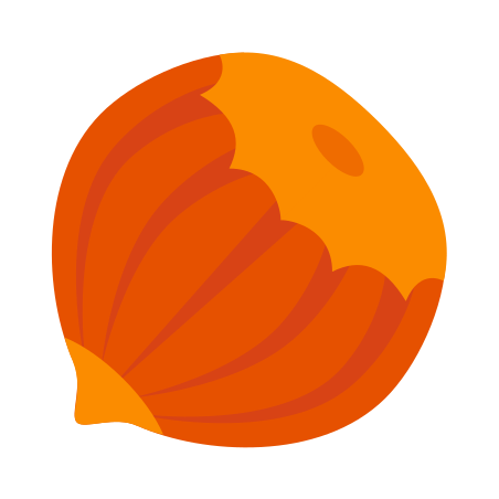 Hazelnut icon in Color