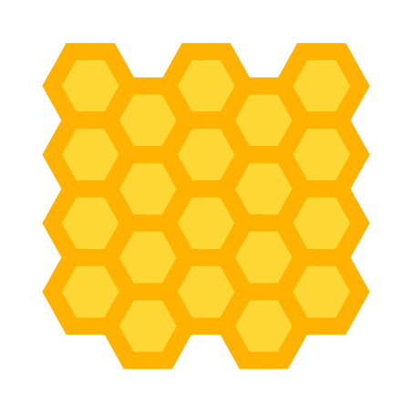 Hexagonal Pattern icon in Color