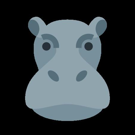 Hippopotamus icon in Color