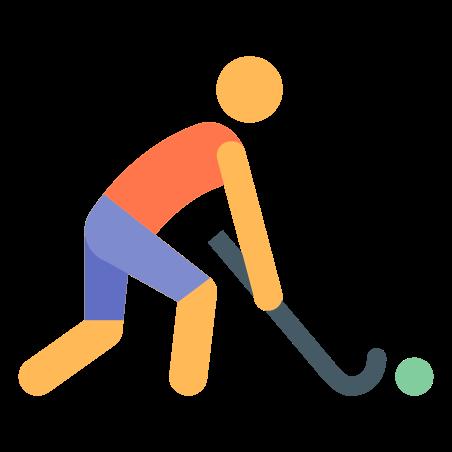 Field Hockey icon in Color