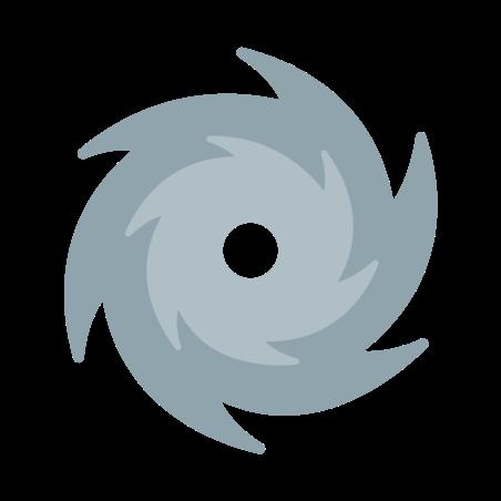 Hurricane icon in Color