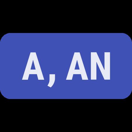 부정 관사 icon