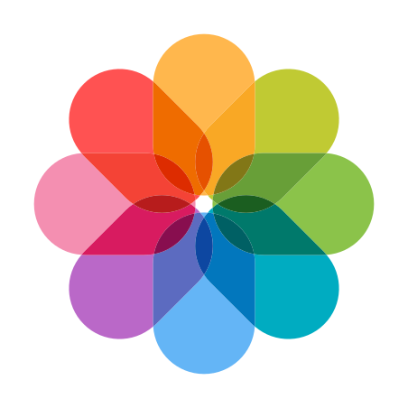 Иконка iOS фотографии в стиле Color