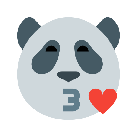 Kiss Panda icon