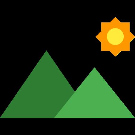 경치 icon in 색상