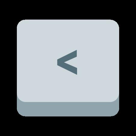 Left Angle Parentheses Key icon