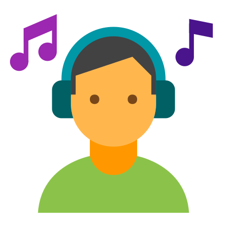 Listening To Music On Headphones icon