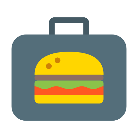 Lunchbox icon in Color