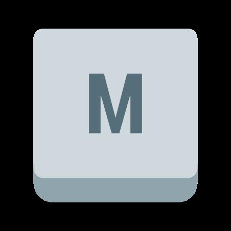 M Key icon