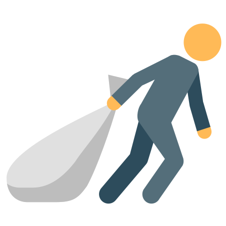 Man Dragging Sack icon
