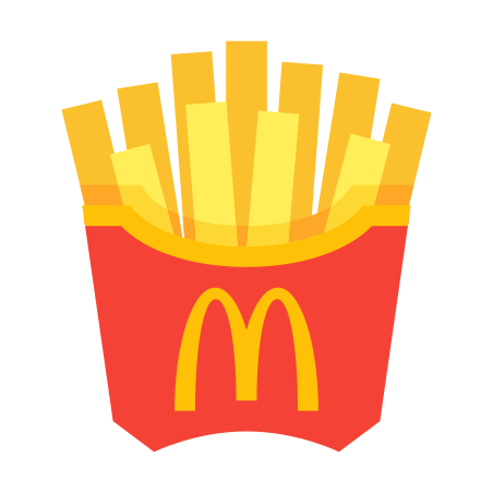 McDonald`s French Fries icon in Color