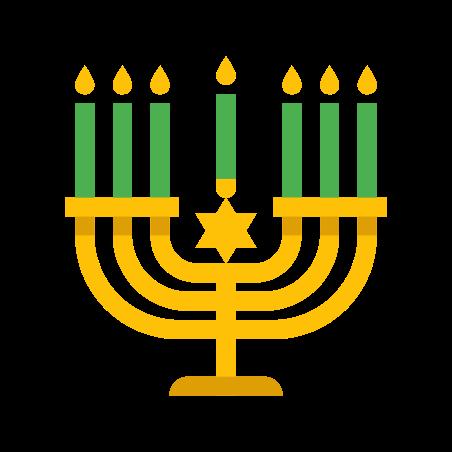 Menorah icon in Color
