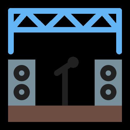 Music Festival icon in Color