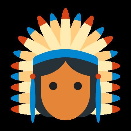 Native American Chief icon in Color