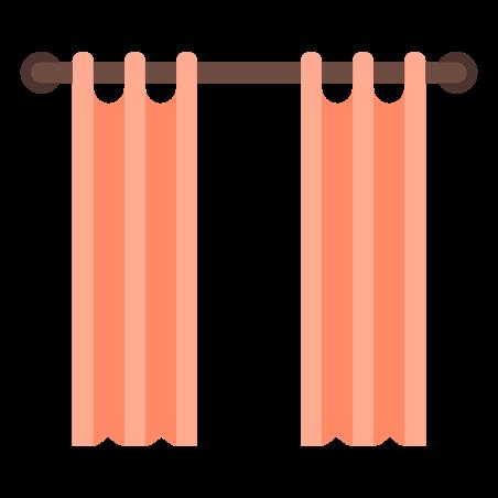 오픈 커튼 icon in 색상