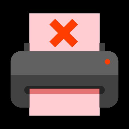 용지 부족 프린터 icon