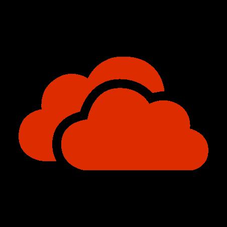 OneDrive rouge icon