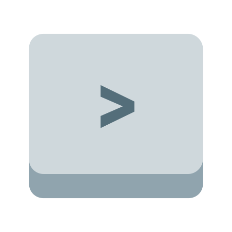 Right Angle Parentheses Key icon