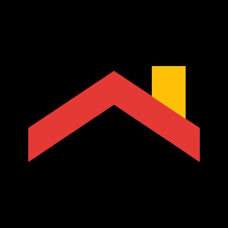 지붕 이기 icon in 색상