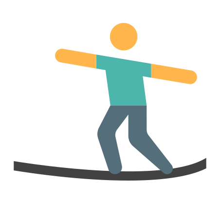 Ropewalker icon in Color