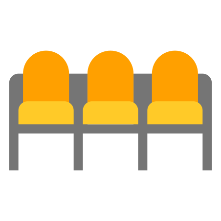 Row of seats icon