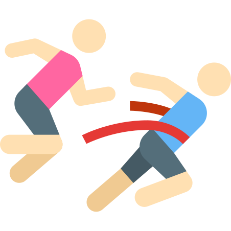 Runners Crossing Finish Line Skin Type 1 icon in Color