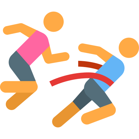 Runners Crossing Finish Line Skin Type 2 icon in Color