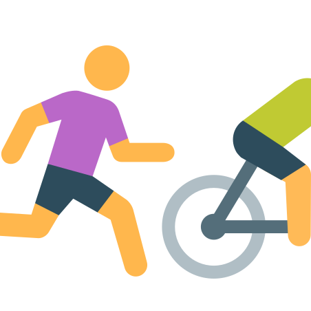 Running After Bike icon in Color