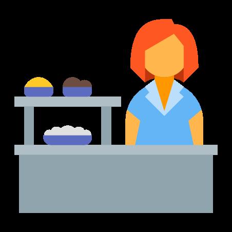 School Cafeteria icon in Color