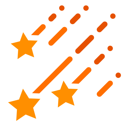 Shooting Stars icon in Color