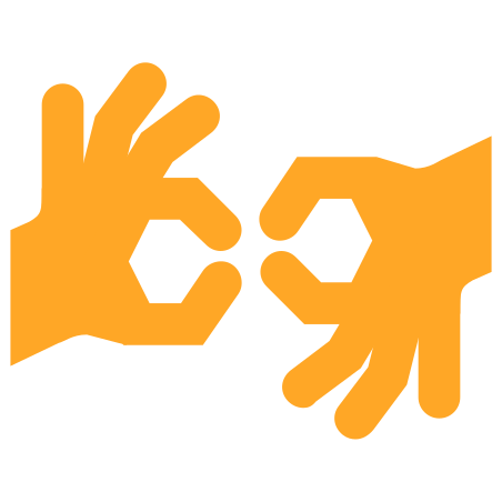Sign Language icon in Color