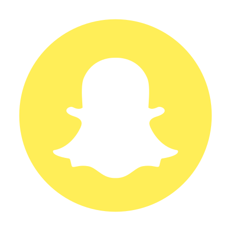 Snapchat Circled Logo icon