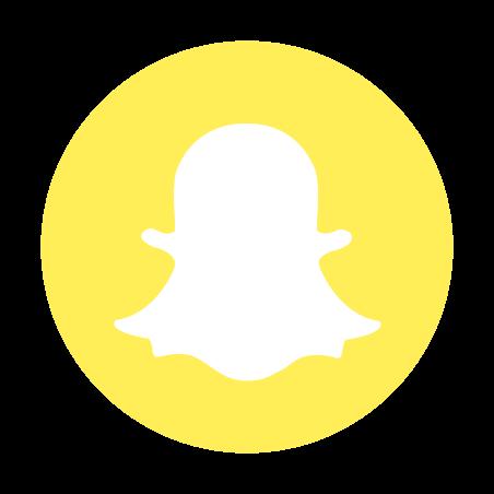 Snapchat Circled Logo icon in Color