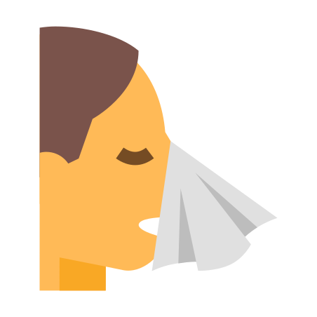 Sneezing In A Tissue icon in Color