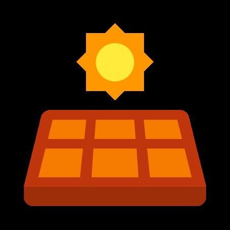 태양 전지 패널 icon in 색상