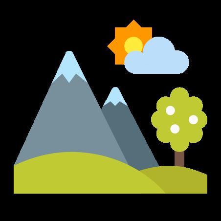 Spring Landscape icon in Color