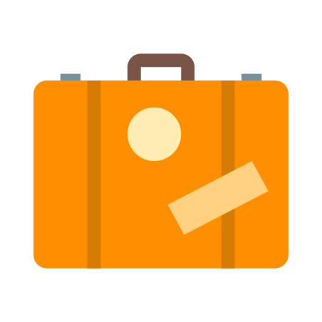 Suitcase icon in Color