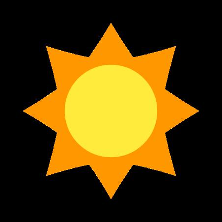 Summer icon in Color