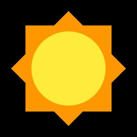 Sun icon in Color